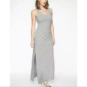 Athleta Striped Playa Maxi Dress in Light Gray